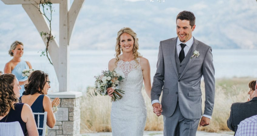 West Kelowna Wedding at Sanctuary Gardens with Barnett Photography Photographer