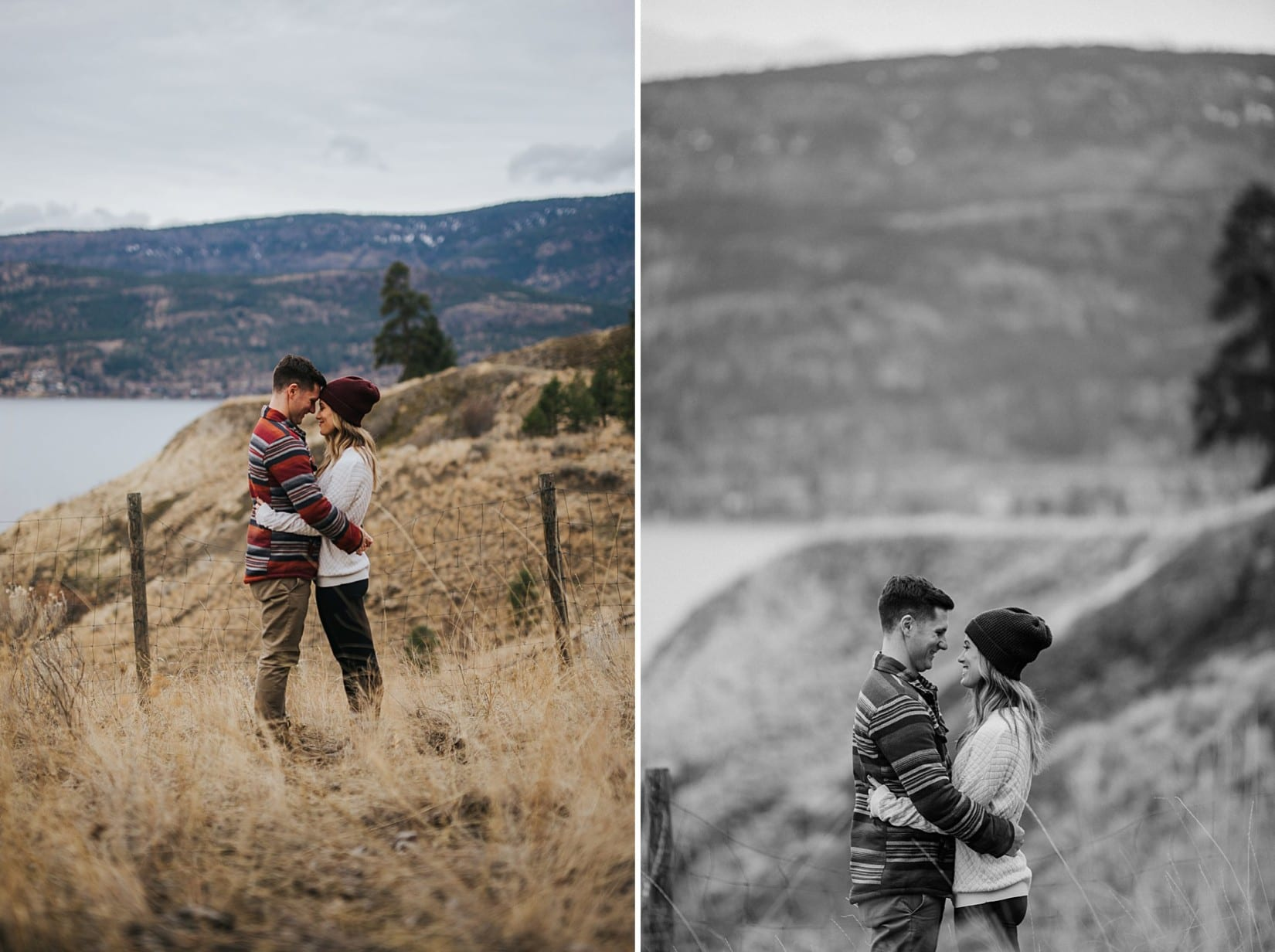 Knox Mountain Engagement in Kelowna
