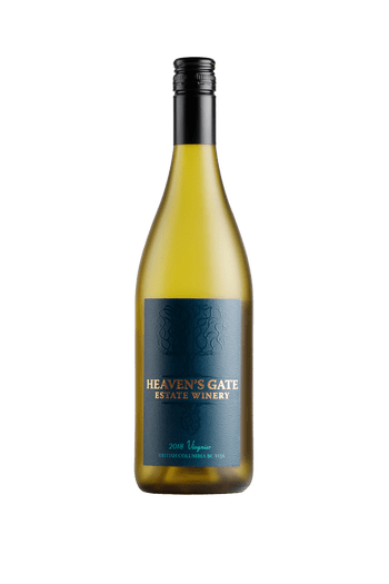 bottle of Heaven's Gate Winery 2018 Viognier white wine, great for pairing with brunch