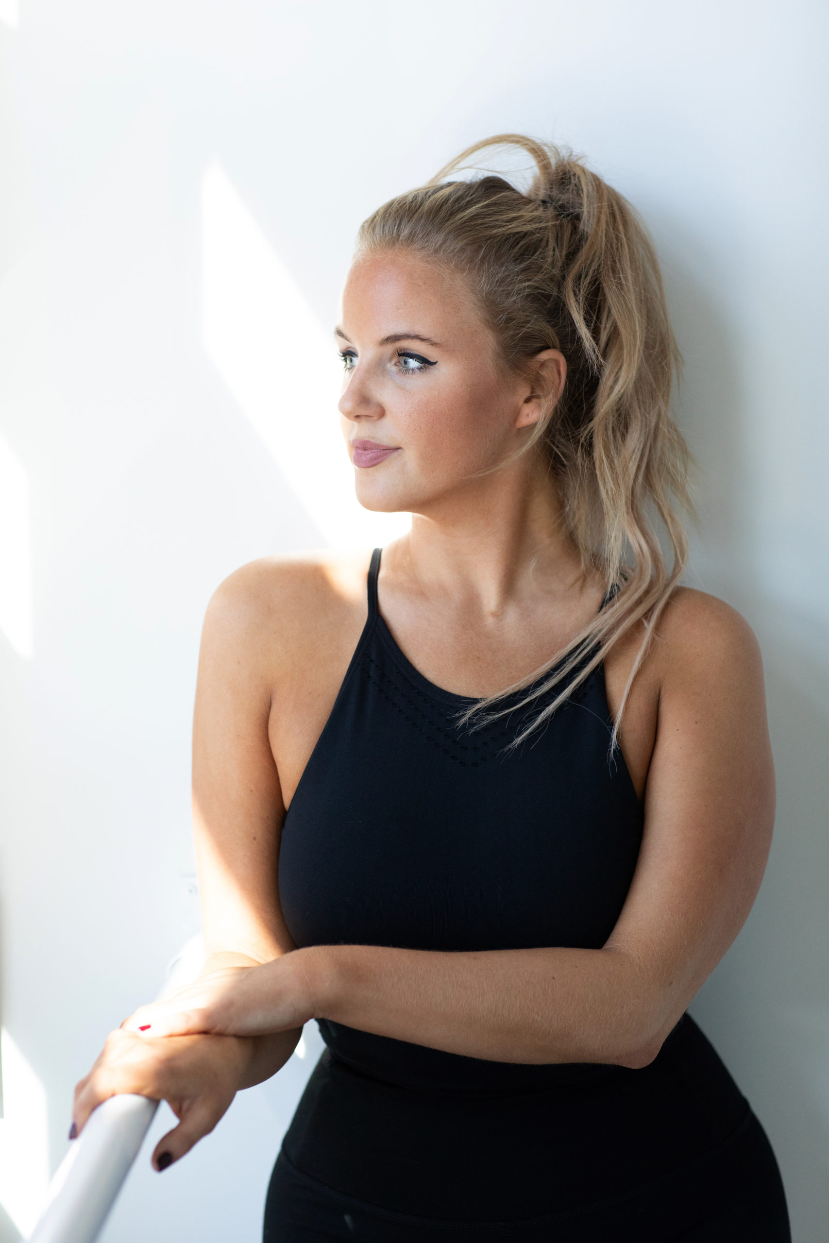 Natalia is a Barreroom instructor in Kelowna, BC that teaches classes online so people can enjoy barre at home.