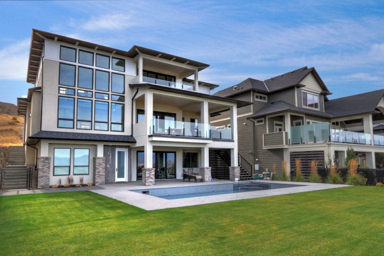 Exterior view of a luxury custom home built smart home by Stark Homes
