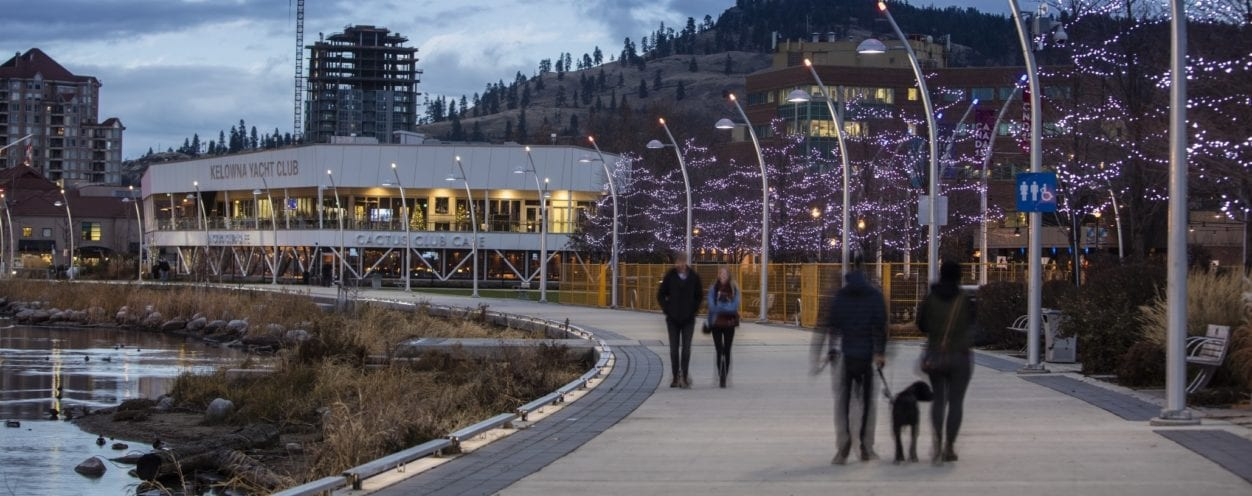 Couples walking along the water in Kelowna for feature image on Wills and Estates