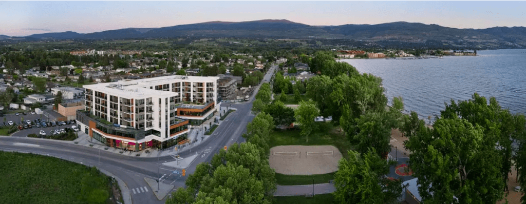 The Shore Kelowna, a hotel-apartment in Kelowna's lower Mission, great for tourists and locals enjoying staycations