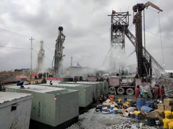 Schramm rigs providing assistance in China