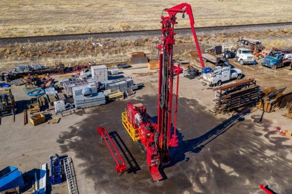 Hardwick machinery proving aftermarket repair services on Schramm rig; pertaining to Aftermarket Growth with Hardwick Machinery.