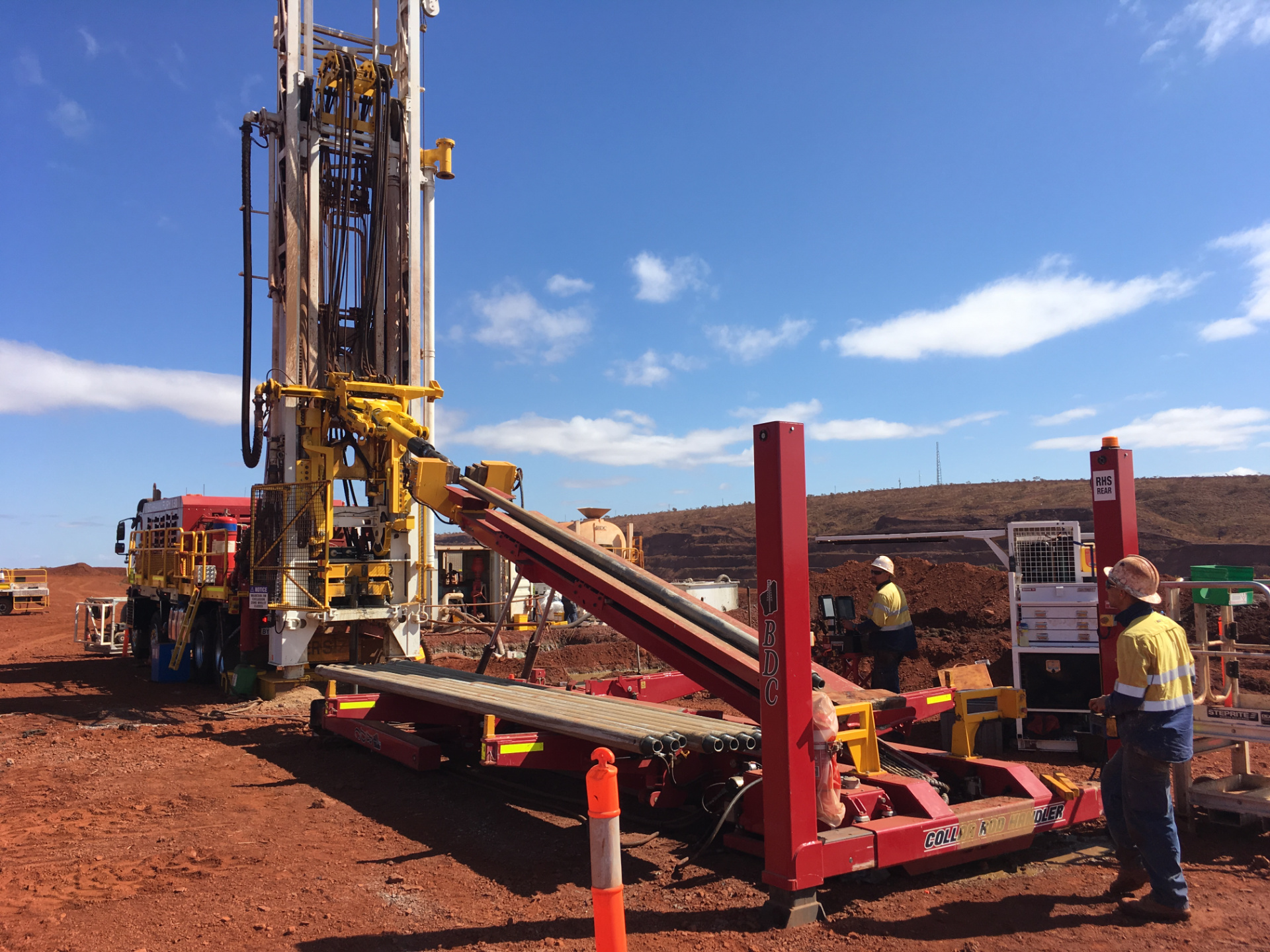 Schramm Fury 130 drilling rig on-site providing aftermarket services in Australia.