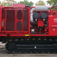 Schramm T450GT compact drill rig with GOECASE.
