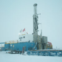 Schramm Rig surrounded by snow in Canada.