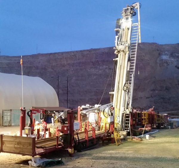 Exploration Drill Masters EDM Rig with crew.