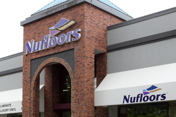 Nufloors Kelowna Storefront with sign