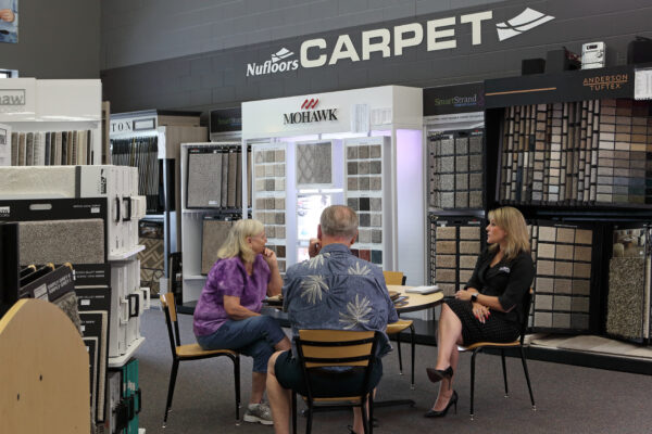 Nufloors Kelowna Discussion at Carpet Section